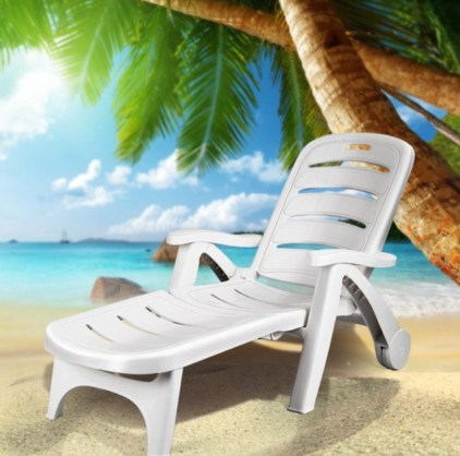 A patio furniture - Chaise deck chair lounger