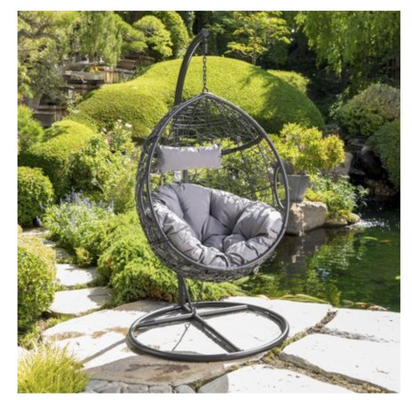 A patio furniture - Hanging Basket Chair