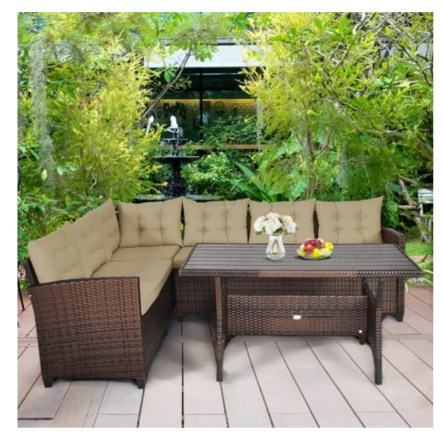 A patio furniture - Rattan Dining Sofa