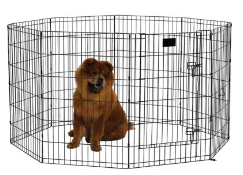 New Puppy Checklist: A foldable metal exercise pet playpen