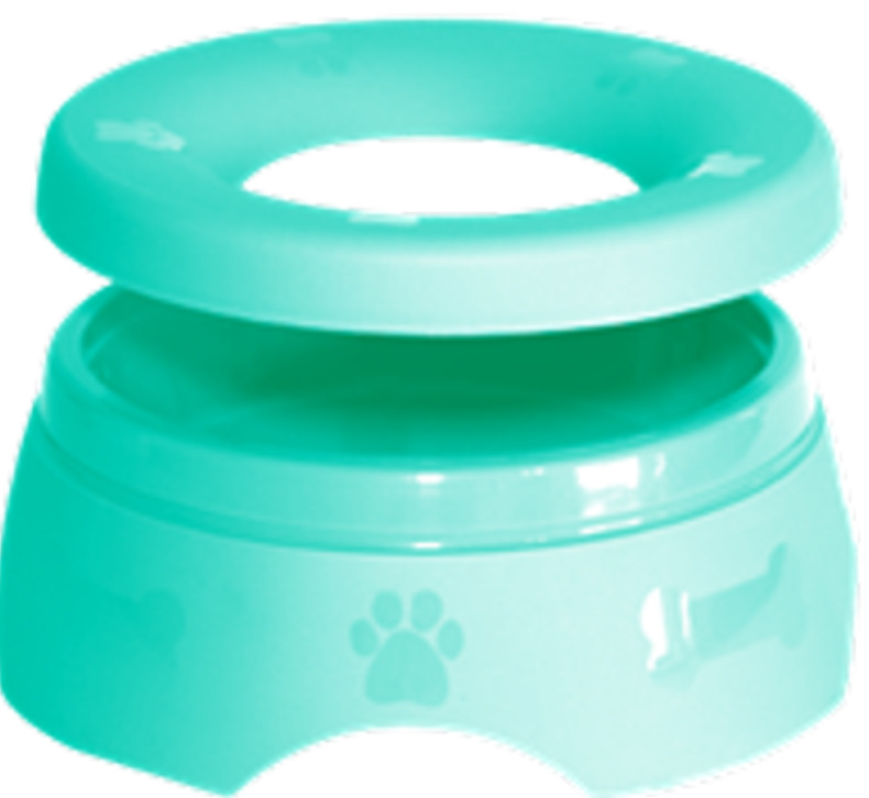 New Puppy Checklist: A sippy pup non-spill dog water and food bowl