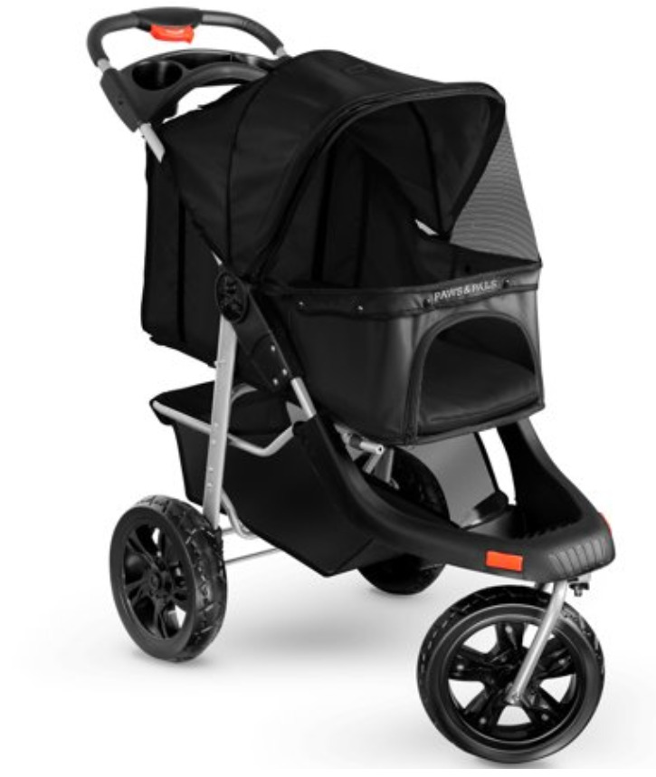 Cat Supplies: 3 wheel foldable pet stroller