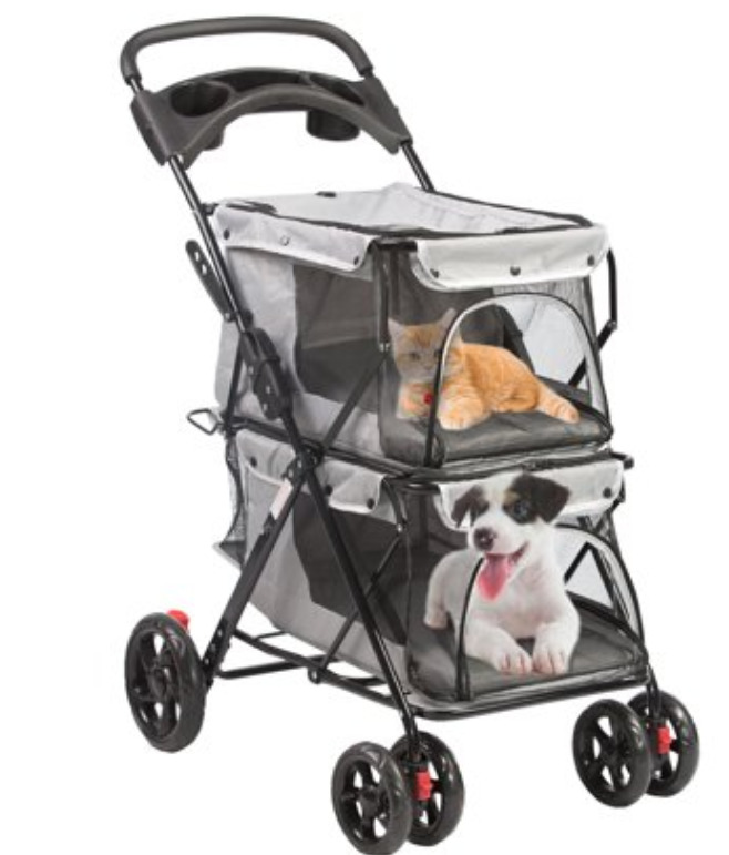 Cat Supplies: Double level dog stroller