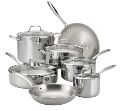 Tramontina Stainless Steel Tri-Ply Clad Set