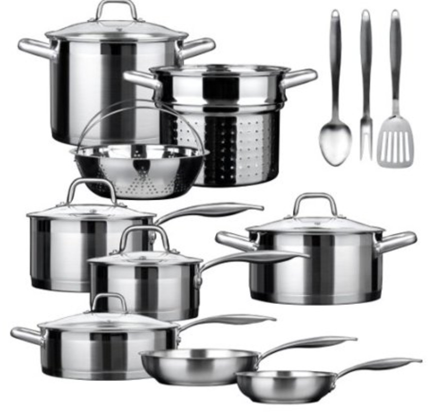 Duxtop SSIB-17 Professional 17 piece Stainless Steel Induction Set