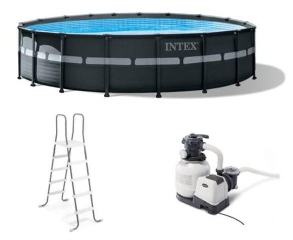Intex Ultra XTR Frame Round Above Ground Swimming Pool Set