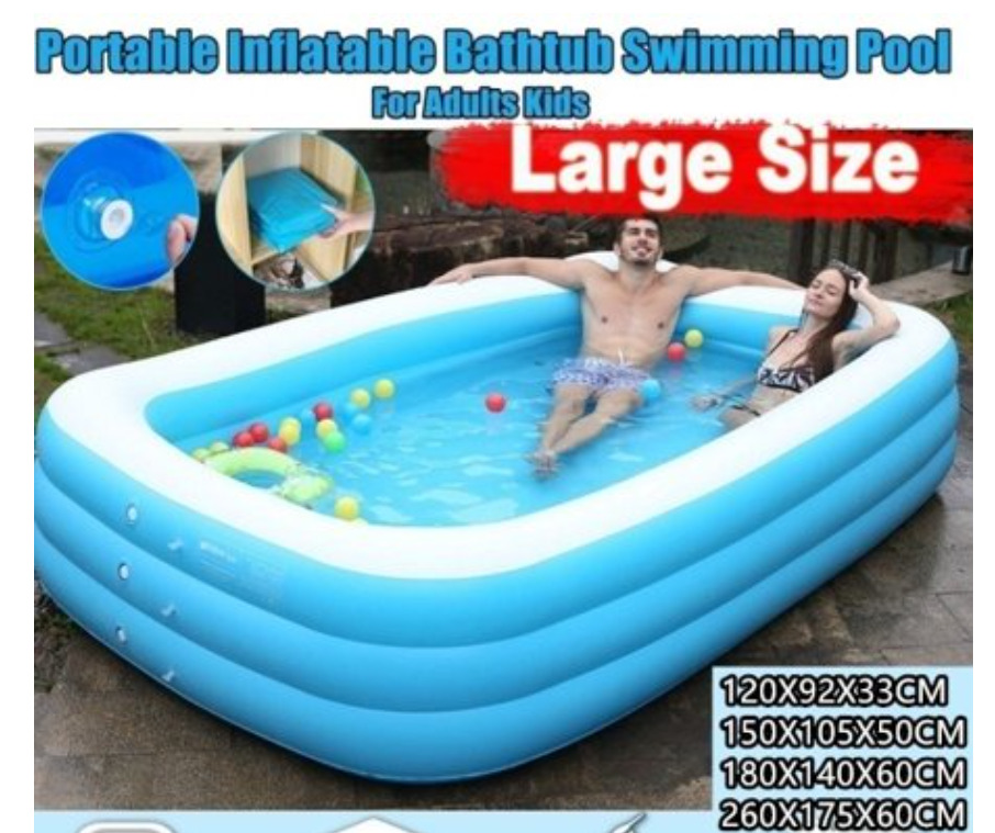Willstar Portable Foldable Adult/children's Pool Bath Tub Outdoor Indoor 120-260 CM Thickened Inflatable Swimming Pool
