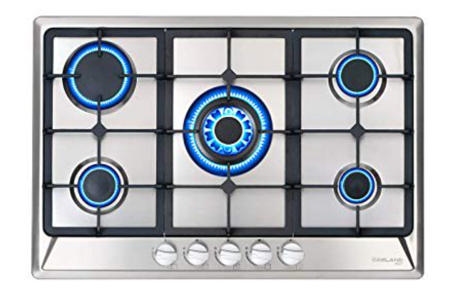 Gasland Chef GH77SF 30'' Built-in Gas Stove Top, Stainless Steel LPG Natural Gas Cooktop, 5 Sealed Burners