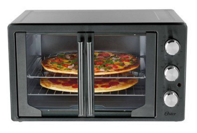 Oster Digital Metallic & Charcoal French Door Ovens with Convection
