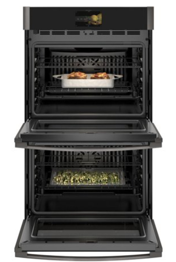"""GE Profile Black Stainless Steel PTD7000BNTS 30"""""""" Smart Double Wall Ovens"""
