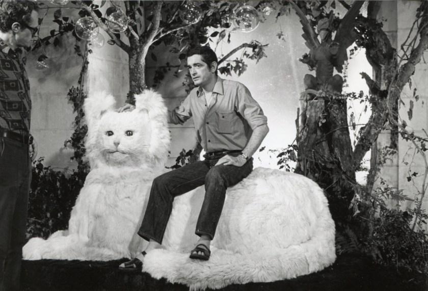 Jacques Demy pendant le tournage de Peau d'âne