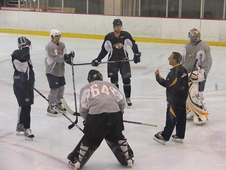 Training Camp – Mitch Korn directs practice – small