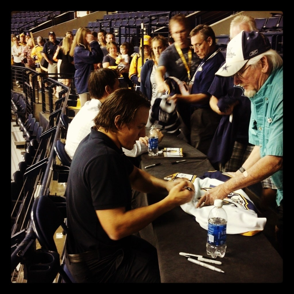 Bourque signs jersey