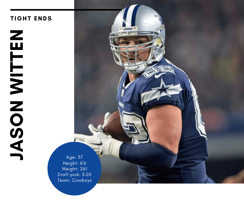 Dallas Cowboys tight end Jason Witten running with ball