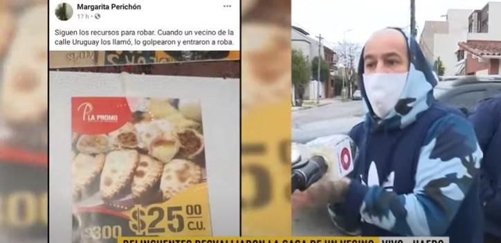 DELIVERY TRUCHO DESVALIJÓ A UN VECINO DE HAEDO