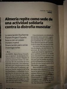 Ideal Almería, ruta solidaria duchenne
