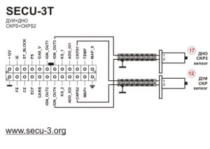 Wiring diagrams for SECU3T (24 pins connector)  МПСЗ
