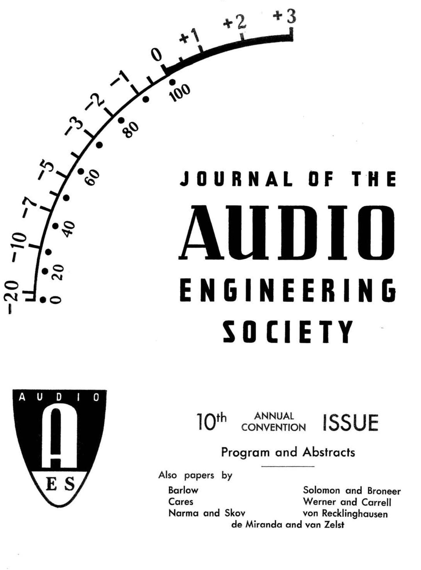 Aes E Library Complete Journal Volume 6 Issue 4