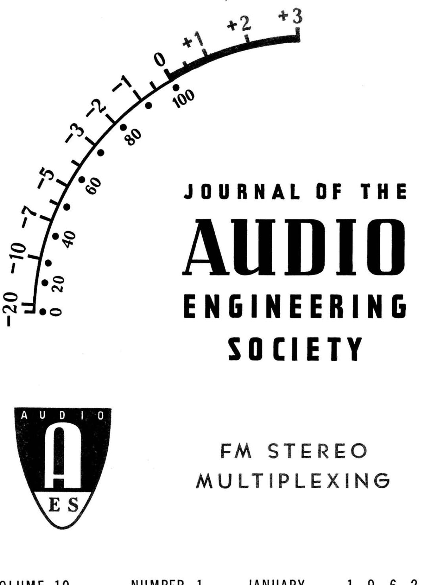 Aes E Library Complete Journal Volume 10 Issue 1
