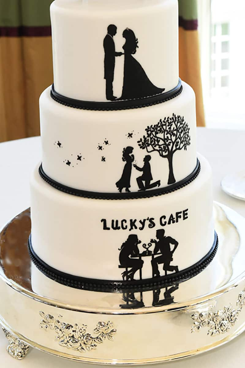 Wedding Cake Wednesday A Love Story Disney Weddings