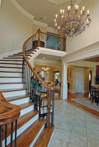 Photo Tour Garrell Associates The Belle Demure Lorraine House | Round Staircase House Plans | Beautiful | Small House | Exterior | Dimension | Stair Outside