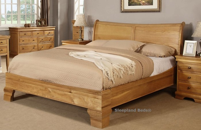 sweet dreams grayson oak bed frame