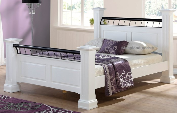 hunter white wooden bed frame by sweet