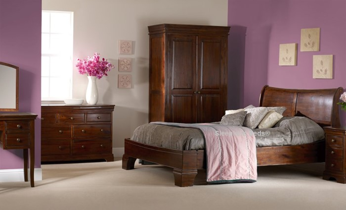 sweet dreams lincoln bed frame dark