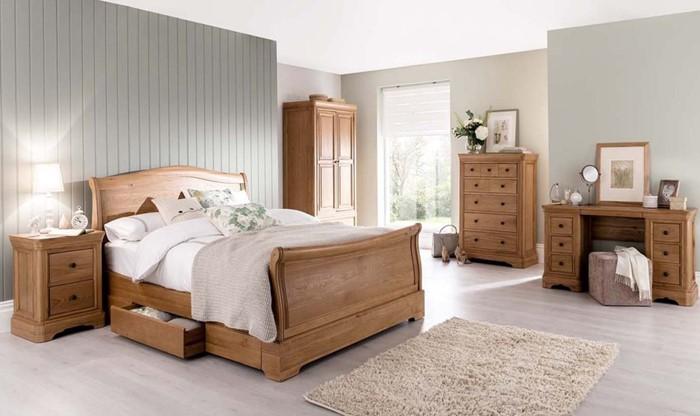 vida living carmen oak bedroom