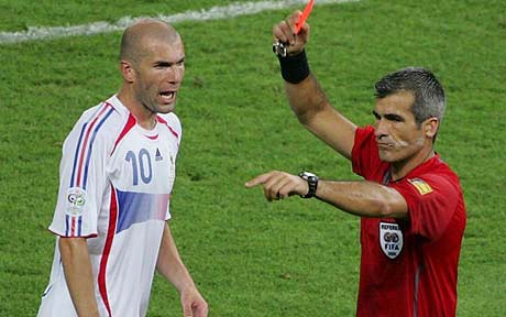Zinedine Zidane: I'm glad I was sent off for head-butt in World ...