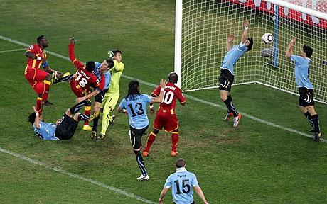 Image result for ghana vs uruguay world cup 2010
