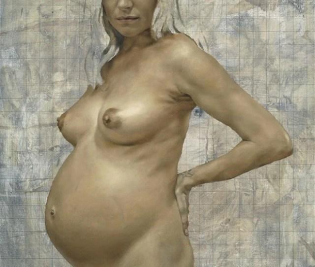 Sienna Pregnant 2012 The Portrait By British Artist Jonathan Yeo Which Was