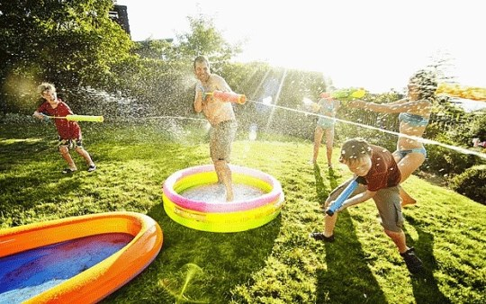 Water fight games  three fun ideas for families   Telegraph From water bazookas and Super Soakers to balloons  buckets and garden  hoses  discover the wet and wild delights of a modern water fight