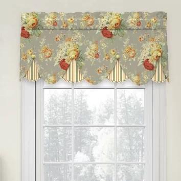 Waverly Sanctuary Rose Peek A Boo 52 Curtain Valance Amp Reviews Wayfair