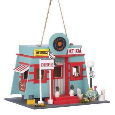 Zingz Amp Thingz Route 66 Diner Hanging Birdhouse Amp Reviews