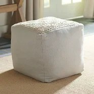Gibson Embroidered Pouf