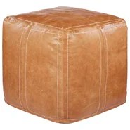 Ultra By Nikki Chu Leather Pouf Ottoman