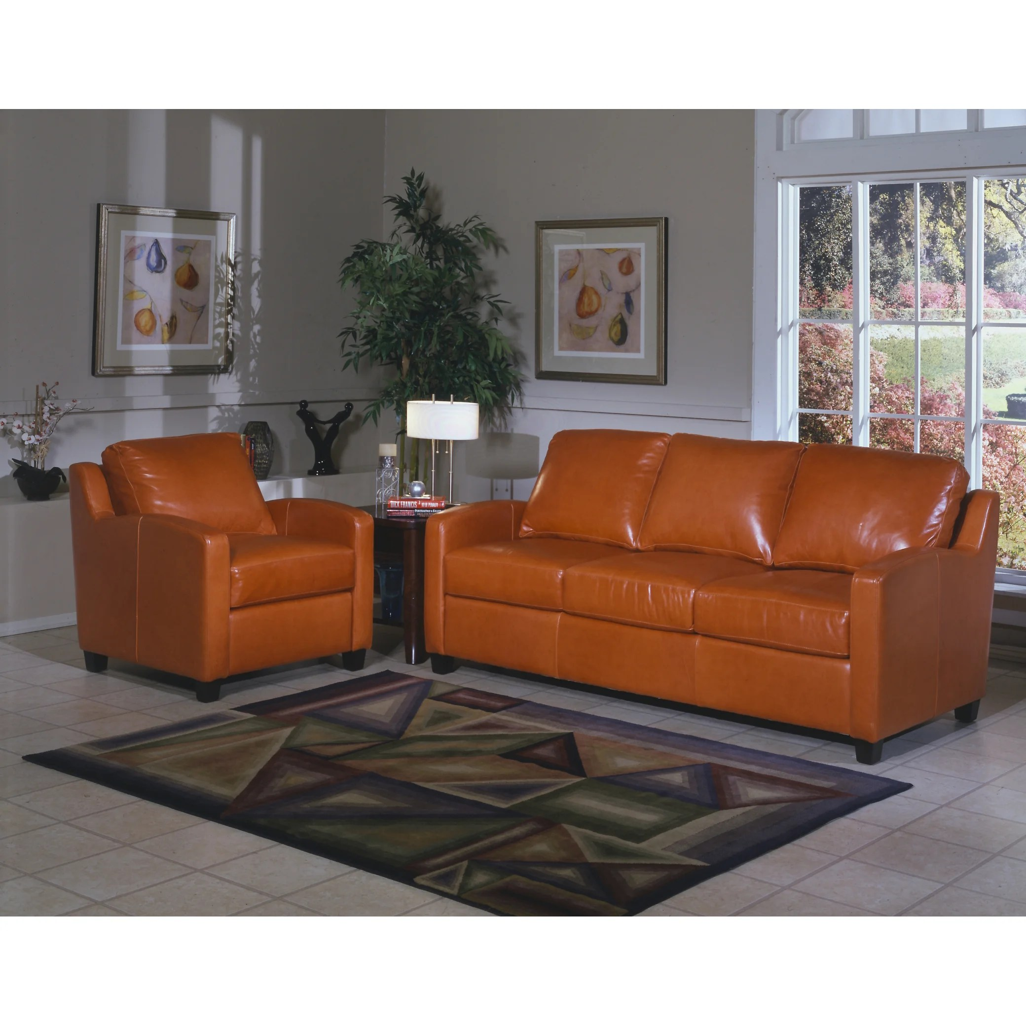 Latitude Run Calla Leather Sofa Reviews Wayfair Dania Leather Sofa