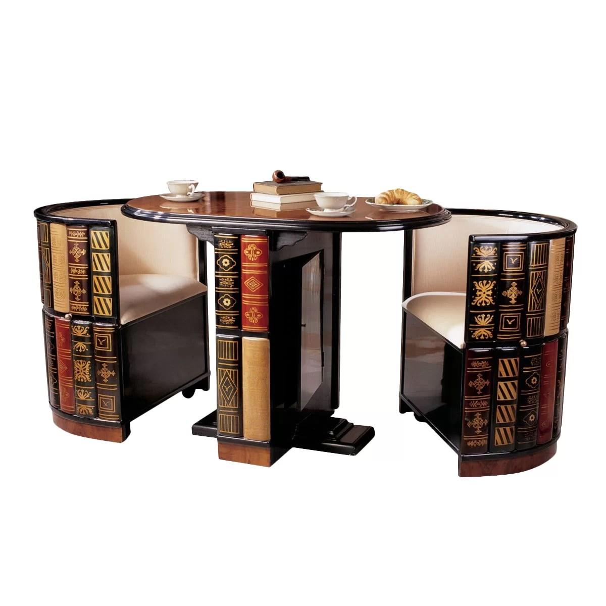 Design Toscano 3 Piece Dining Set Amp Reviews Wayfair