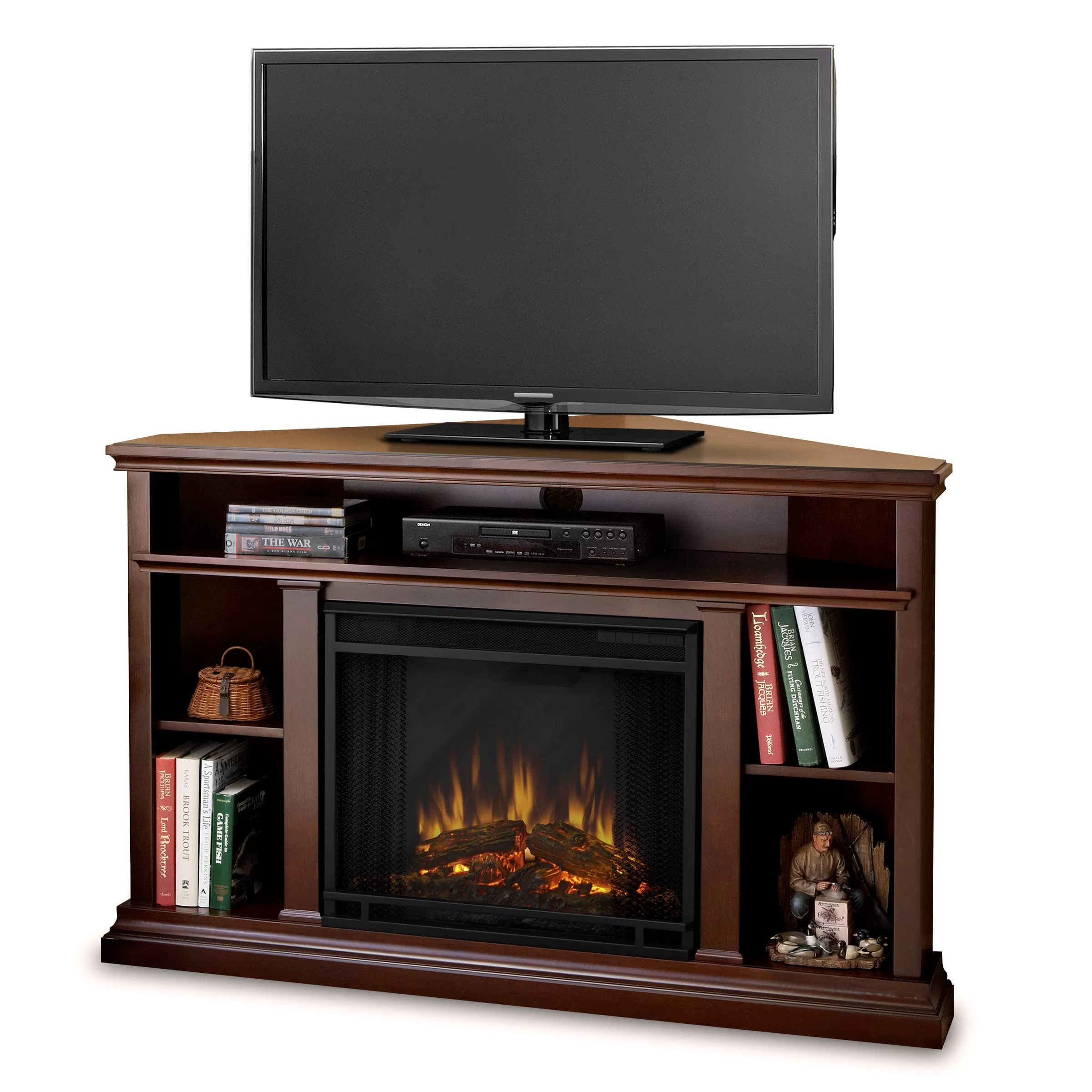 Real Flame Churchill Tv Stand With Electric Fireplace