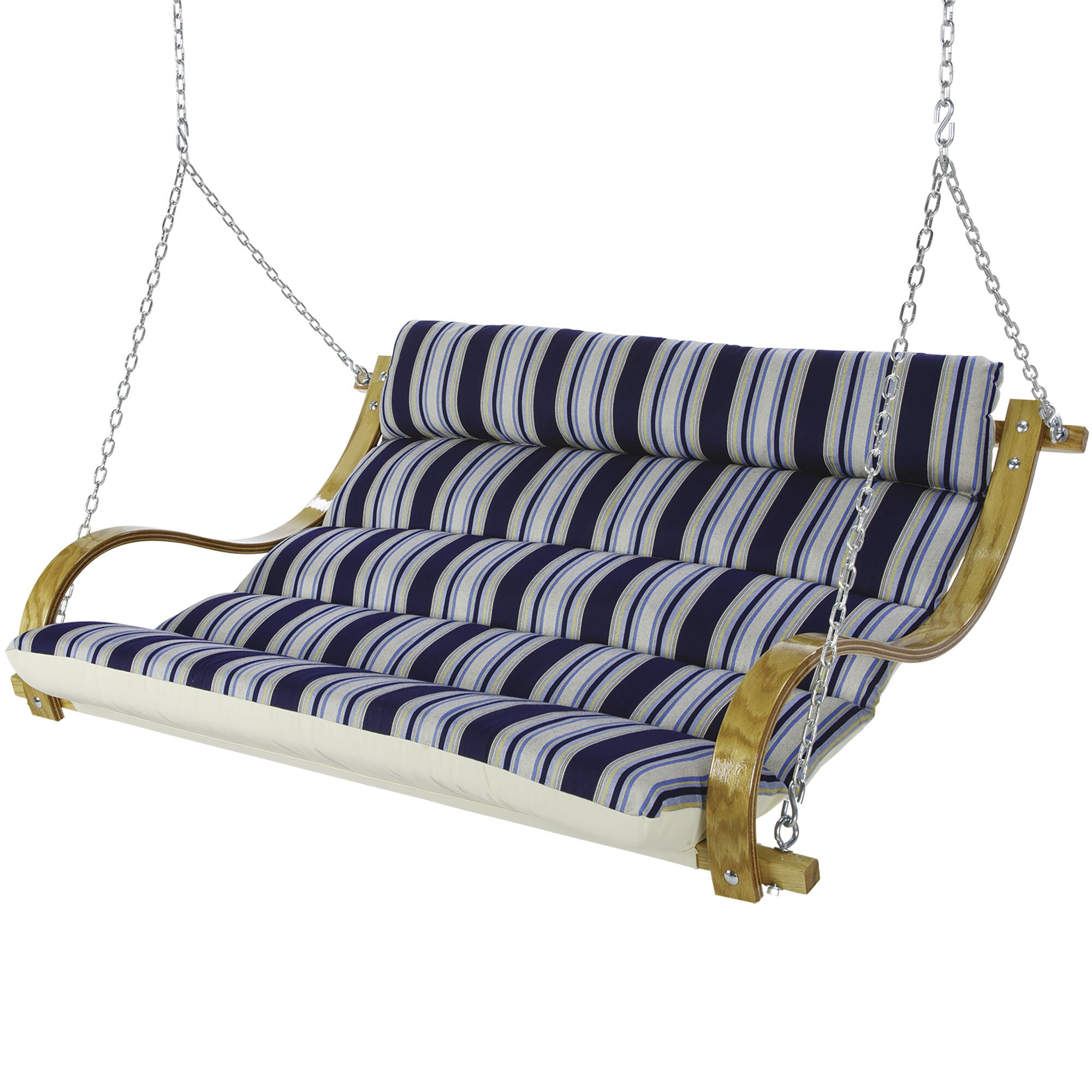 Hatteras Hammocks Deluxe Cushioned Double Porch Swing