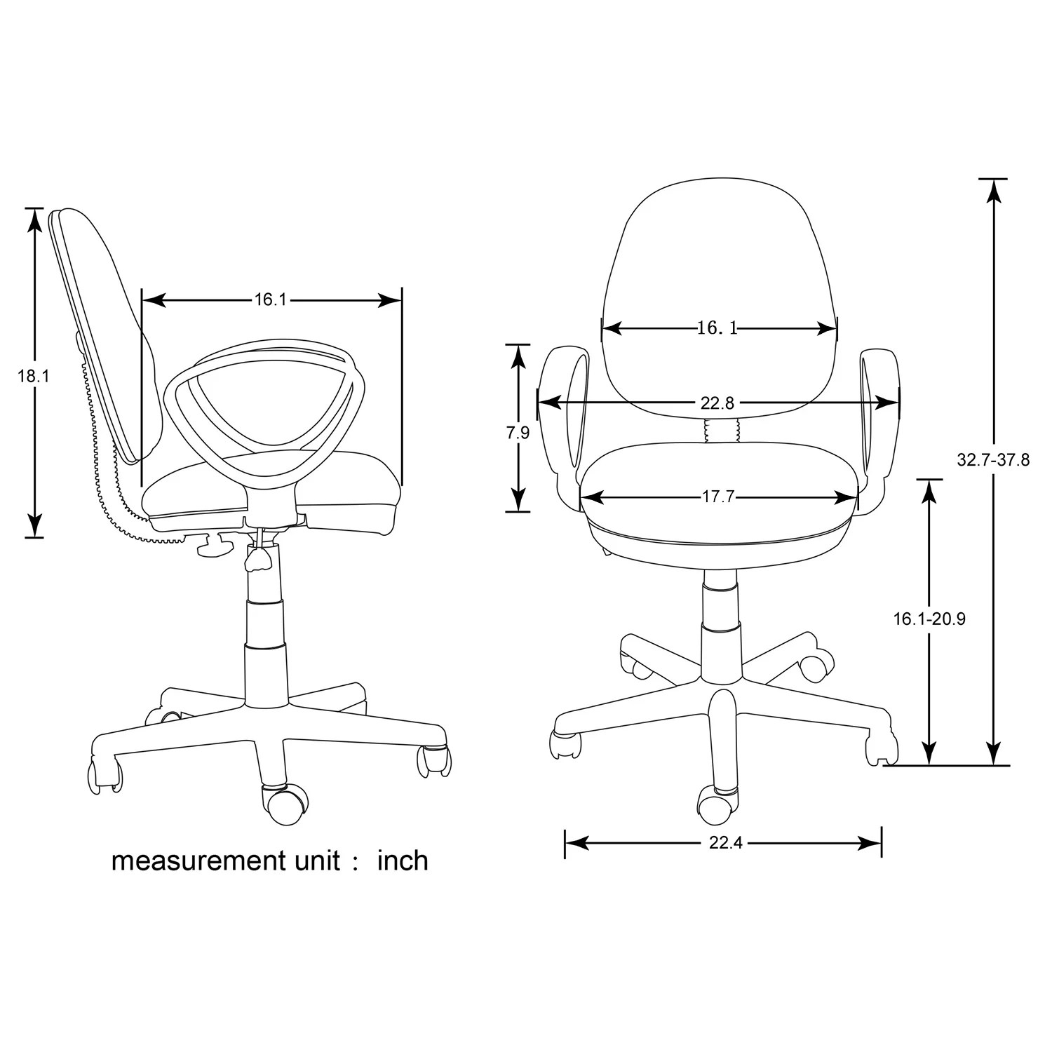 Merax 15 7 Mesh Office Task Chair With Arm Amp Reviews