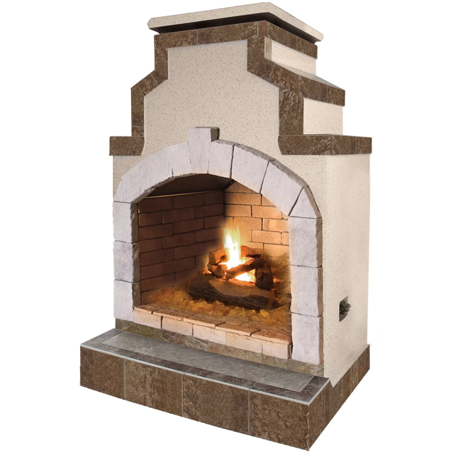 Calflame Propane Gas Outdoor Fireplace Amp Reviews