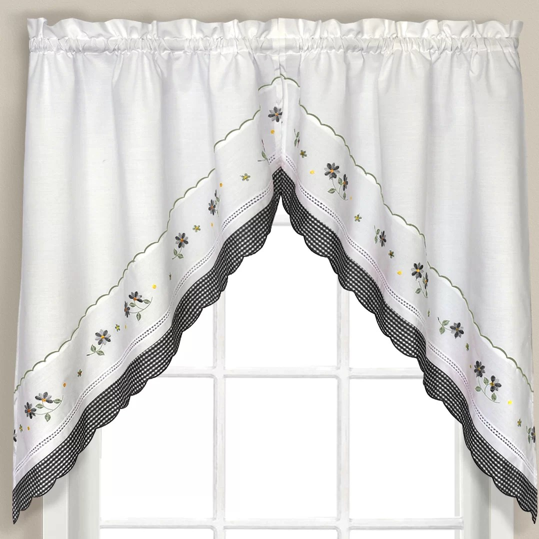 United Curtain Co Gingham Swag Curtain Valance Amp Reviews