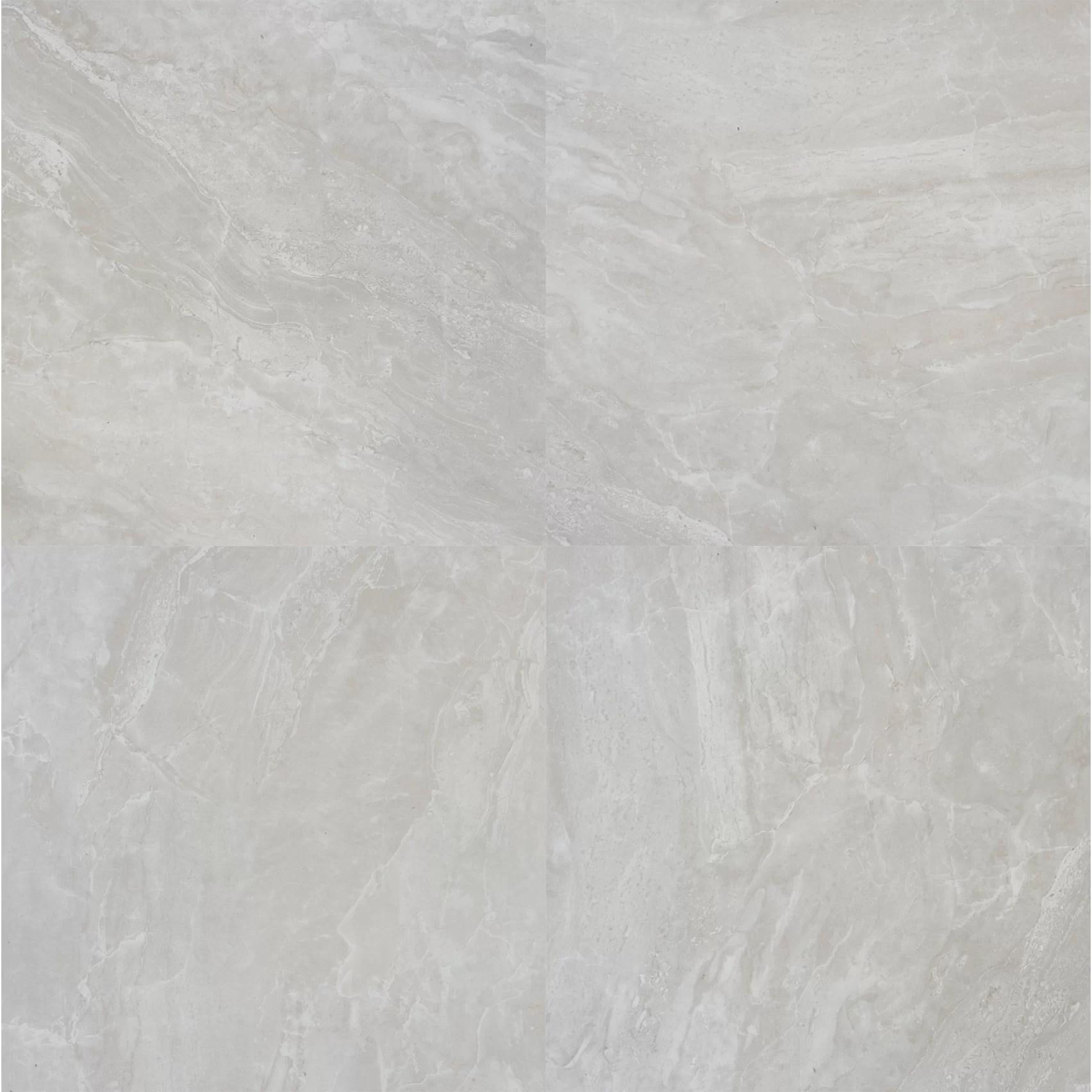 Msi Pietra Pearl 12 X 12 Porcelain Field Tile In Gray