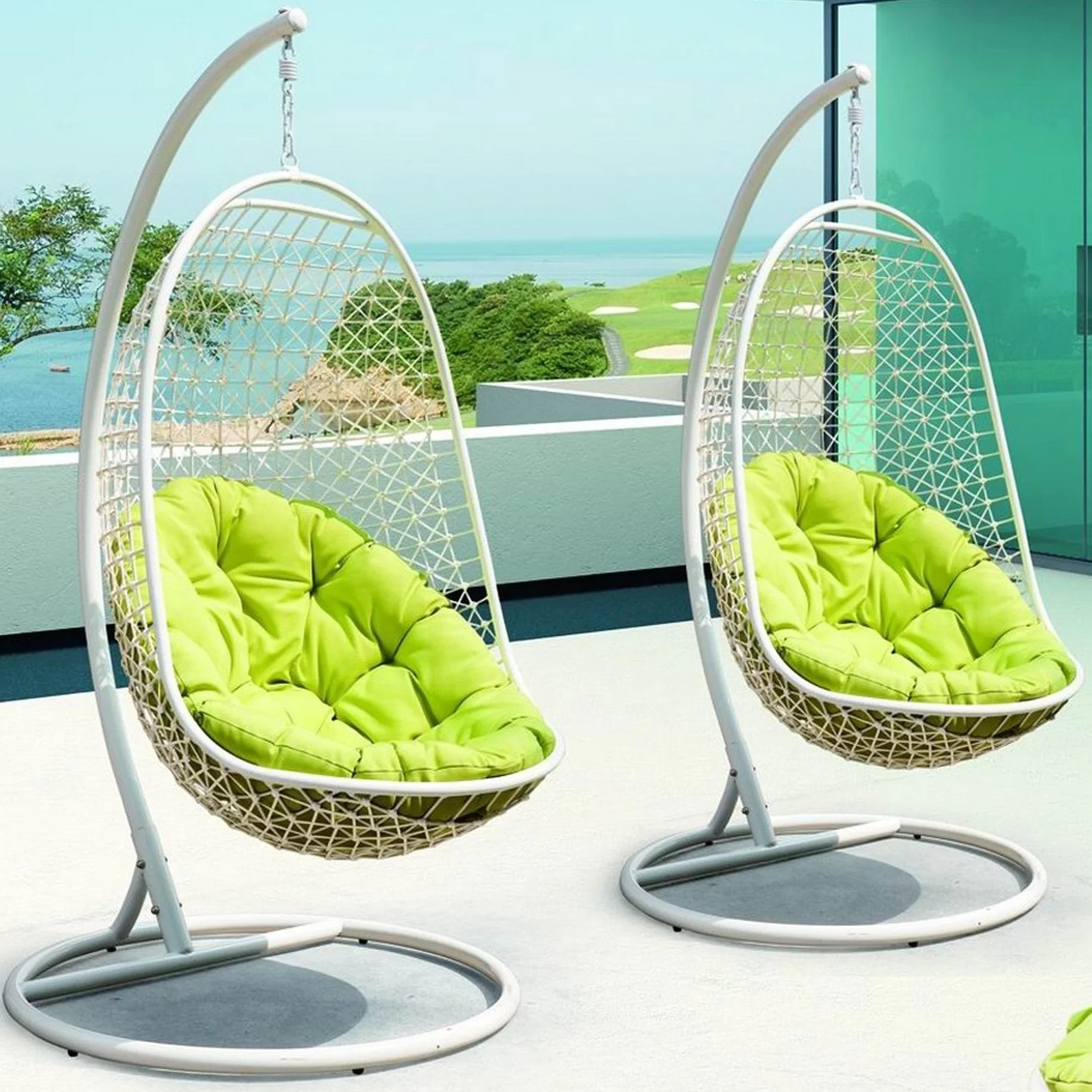 Modway Encounter Swing Chair With Stand Amp Reviews Wayfair