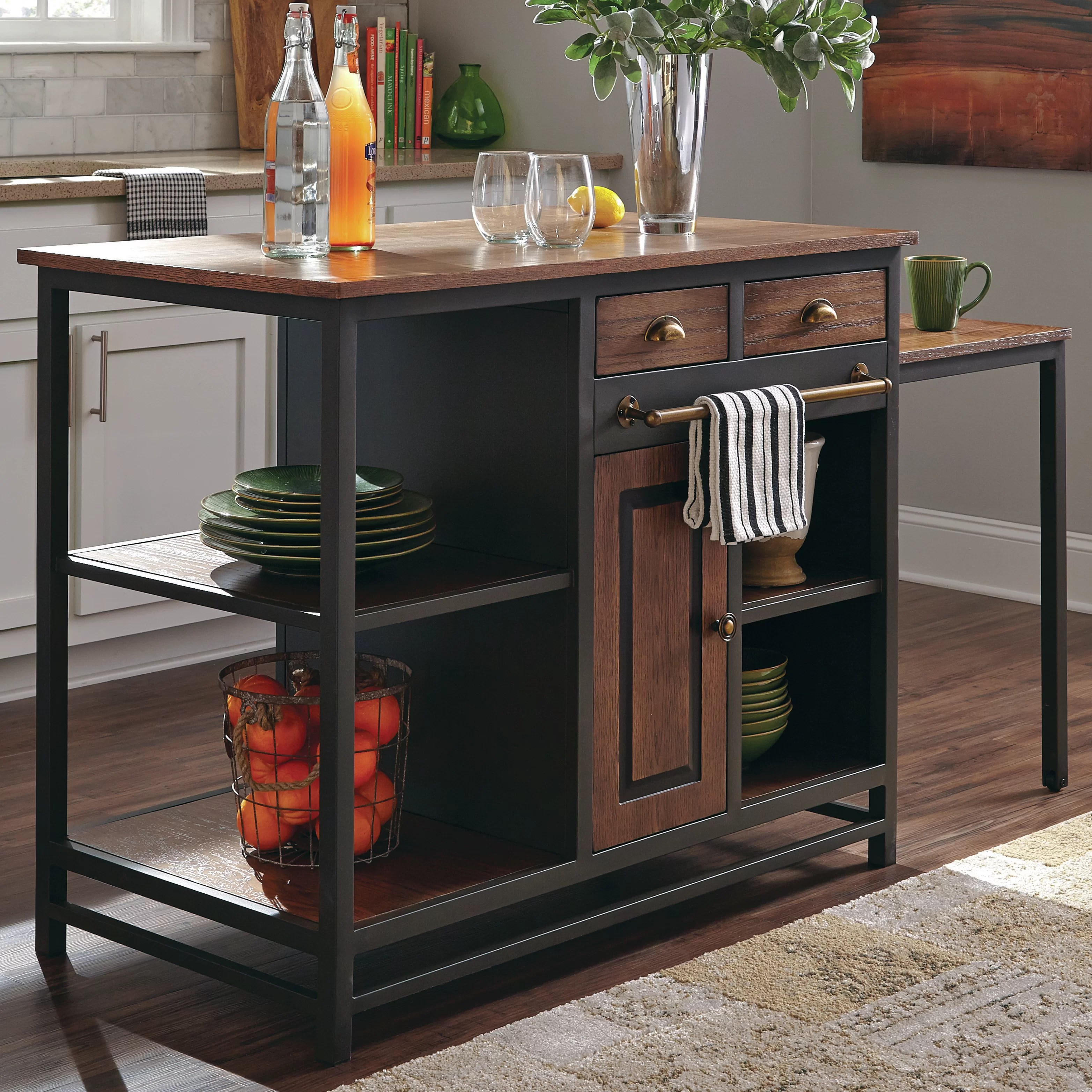 Donny Osmond Kitchen Island With Wood Top Amp Reviews