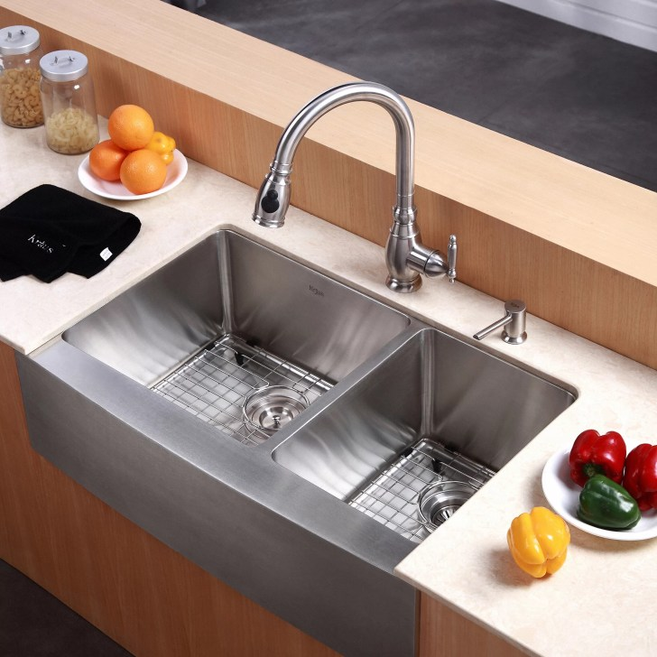 Kraus Farmhouse Double Bowl Kitchen Sink
