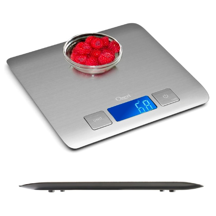 Refined Stainless Steel Digital Kitchen Scale