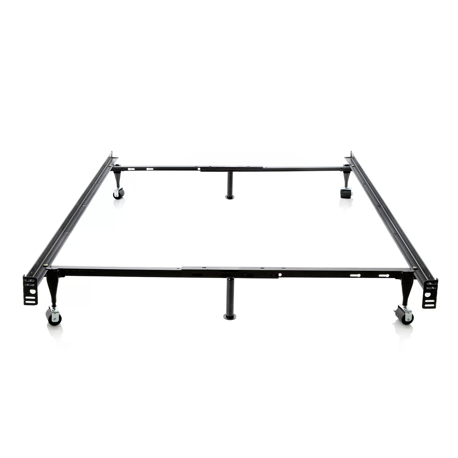 Malouf Heavy Duty 6 Leg Adjustable Metal Bed Frame With Rug Roller Amp Reviews
